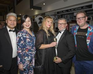 (from left) Patrick Ah Kuoi, Jennifer Kasper, Debbe Berkett, Paul Martin, Christian Kasper....