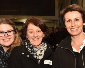 from left Georgina Marks, Maureen Townsend and Jennifer Pringle all of Dunedin