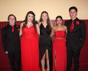 Kain Walker (17), Brooke Rutherford (18), Nikki Hall (17), Adorique May (18) and Reihana Mason-Waru (18)