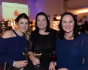 (from left) Aimee Mitchell, Adele Robinson both of Dunedin and Kristy Compton of Mosgiel