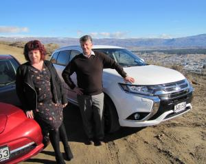 Alexandra resident Helen Brown and Central Otago District Council chief financial officer Bernard...