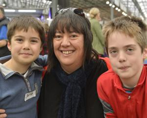Jacob (6), Carmen and Sam (11) Batchelor, of Dunedin.