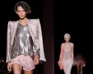 Tom Ford's collection also featured separates like jackets, shorts and blazers. Photo: Reuters