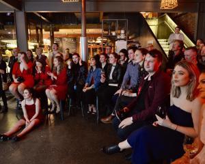 Labour supporters at Vogel Street Kitchen, Dunedin. Photo: Gerard O'Brien
