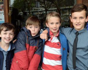 Luke Milburn (8), Jude Smillie (8), Cormac de la Harpe (9) and Toby Robins (9), all ...