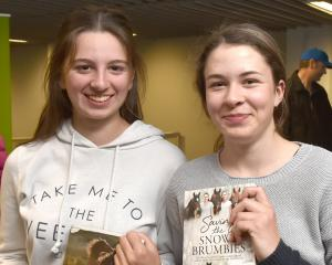 Jerah Todd (15)  and Xyla Tripp (15), both of Dunedin.