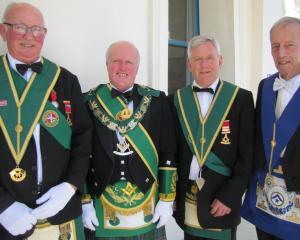 Ernie Webster, of Portobello, Mervyn Gilkinson, of Dunedin, Graeme Dixon, of Dunedin, and Raymond...