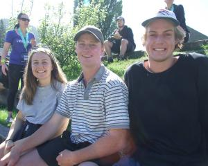 Charlotte Hall, of Queenstown, Nick Simpson, of Mossburn, and James Wilkins, of Te Puke. PHOTOS:...