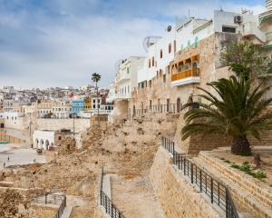 The ancient walls and houses of the medina, Tangier. Photo: Getty Images