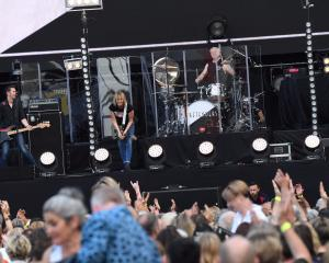 The Pretenders perform at Forsyth Barr Stadium in Dunedin. Photo: Stephen Jaquiery