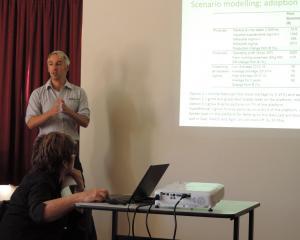 DairyNZ scientist Paul Edwards speaks at the North Otago Sustainable Land Management seminar. Photos: Sally Brooker