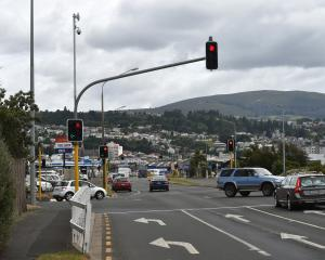 A double camera has been installed at the intersection of State Highway 1 and Andersons Bay Rd as part of a project to put traffic cameras at 30 of Dunedin's busiest intersections. Photos: Gregor Richardson