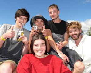 Beck Gardiner, of Glenorchy, Dan Moore, of Glenorchy, Luca March, of Queenstown, Zak Davis, of Glenorchy, and Guillaume Peyrasse, of Wales.