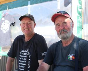 Dave Moreton, of Bannockburn, and Warwick Vaughan, of Paraparaumu.