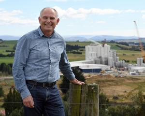 Mataura Valley Milk plant project manager Brent Robinson in front of the plant. Photos: Stephen...