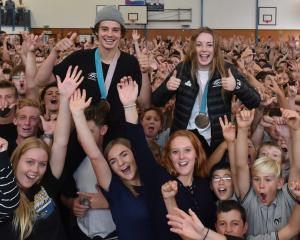 Olympic bronze medallists Nico Porteous and Zoi Sadowski-Synnott received a huge reception from...