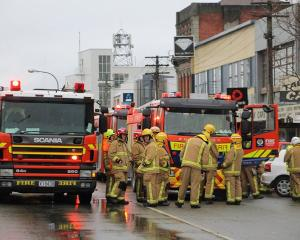 Four appliances and two tankers attended an electrical fire at a building on the main street of...