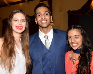 Isabella Barnett (19), Xavier Parackal (21) and Priya Patel (19).