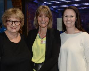 Lois Scott-Muir of Dunedin, Jenny Lambert of Mosgiel and Angela Robertson of Dunedin.