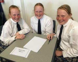 The Secoy triplets (from left) Emile, Madison and Hannah, from Timaru Girls' High School, were...