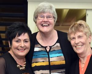 Lee Cheshire, of Mosgiel, Pam Sizemore, of Dunedin, and Lynn Baird, of Dunedin.