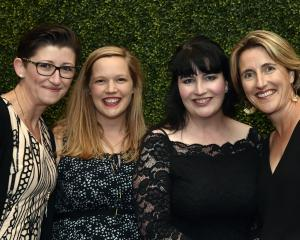 Cara Bradley, Gemma Allan and Karen McCleery, all of Dunedin, and Tara Druce, of Alexandra.