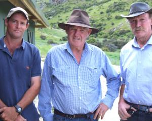Elliott Heckler (Olrig Station), Paul McCarthy (Alexandra), Bill Hinchey (Chatto Creek).