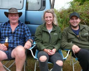 Stephen Stewart, of Invercargill, and Brittney Stewart and Izzy Maines, of Perth.