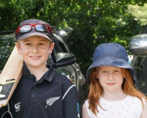 Charlie (8) and Elliot Lovelock (7), of Wanaka. Photos: Sean Nugent