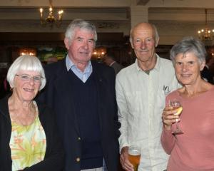 Netty Lastovicka, of Dunedin, Morgan Hewland, of Mosgiel, and John and Jan Leslie, of Waitati.