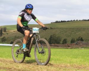 Not Fast but Furious's Steven Lastimosa, of Papakaio, races at the Papakaio 8-Hour Mountain Bike...