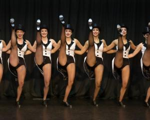 Denise Henderson senior troupe members perform in the Dunedin Tap Dancing Society's 50th...