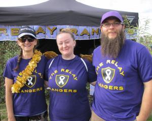 Rebecca Picard, Tarsy Koentges and Marcus Brotnov, of Wanaka.
