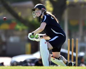 Otago Girls' High School's Rebecca Dean bats for Otago Girls' High School during a cricket match...