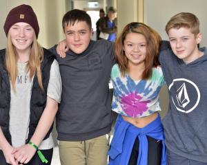 Stage Frighteners, Taieri College. Hannah Powell (13), Leo Burkett (13), Jessie Yee (13), Ethan...