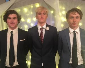 Bailey Conway (17), Finn Geddes (18) and Louis Jefferson (17), all of Alexandra.