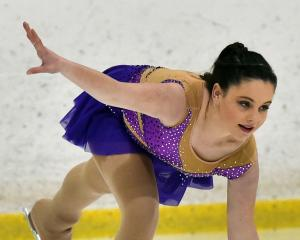 Jorja Stade, of the Alexandra Ice Skating Club, is in control at the Dunedin Ice Stadium...