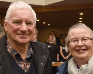 Barry Cadogan and Ruth Porteous, both of Dunedin.