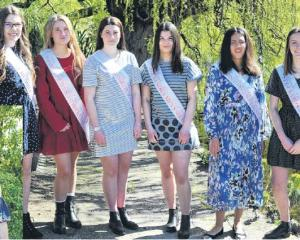The 2019 Alexandra Blossom Festival princesses are (from left): Sophie Rogers (Eat Humble Pie),...