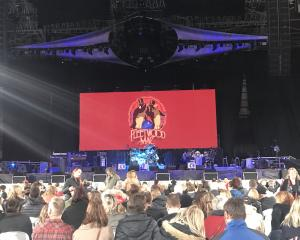 Excitement builds ahead of Fleetwood Mac taking to the stage. Photo: Supplied