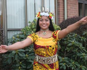 Teemam Tamwennang (14) represents Kiribati during the Multicultural Fashion Show in Invercargill. Photos: Luisa Girao