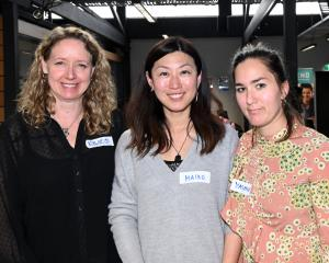 Kylie Jackson, Maiko Tsuji and Yasmin Nowak, all of Dunedin.