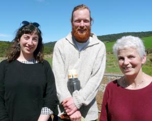 Holly McPhee and Tom Macfarlane, of Dunedin, and Anabel McPhee, of Owaka.