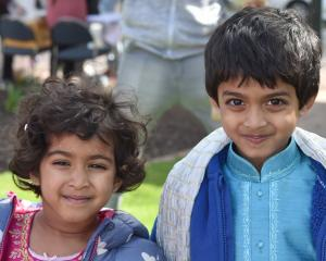 Arya (4) and Arjun (5) Kamath.