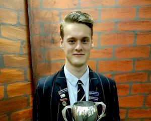 Lachlan Hickford won dux of Hornby High School.