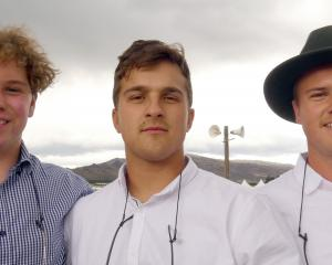 Jaxon Collins Mongston, Tim Wilson and Bruce Barton, all of Queenstown.