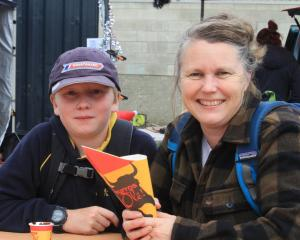 Mosstyn Brydges (10) and his mum Sue Brydges, of Oamaru. PHOTOS: HAMISH MACLEAN