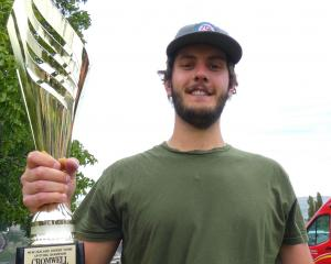 Facundo Minaberrigaray, of Argentina, won the 2019 New Zealand Cherry Stone Spitting...