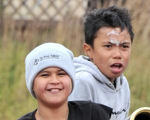 Ryvah Ratima (10) and Teapanui Uiti Ryder (9), both of Dunedin.