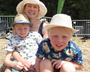 Jane, Finley (6) and Laurence (4) Sharman, of Wanaka.